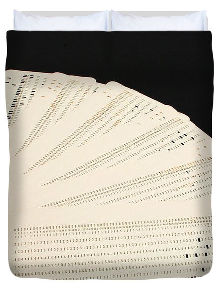 Punch Cards Duvet Cover by Photo Researchers, Inc.