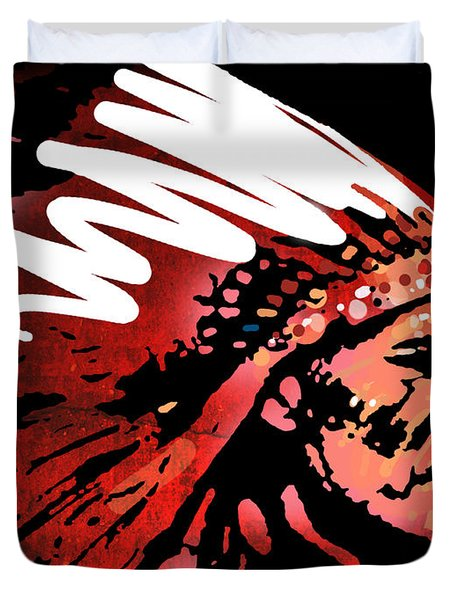 Red Pipe Duvet Cover by Paul Sachtleben