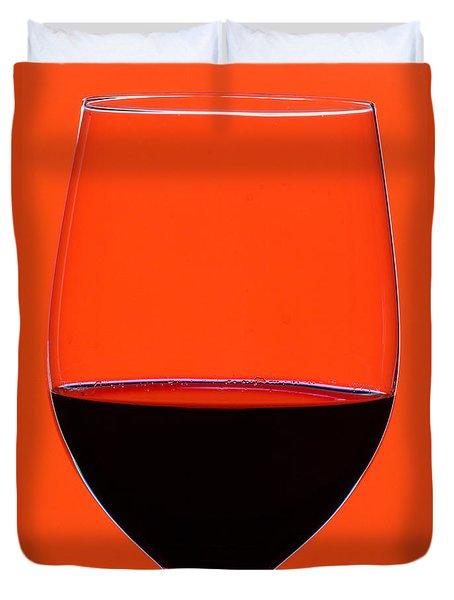 Red Wine Glass Duvet Cover by Frank Tschakert