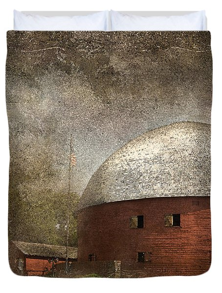 Route 66 Round Barn Duvet Cover by Betty LaRue