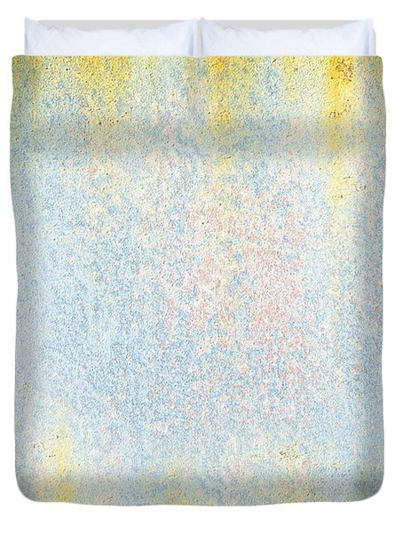 Rusty Background Duvet Cover by Carlos Caetano