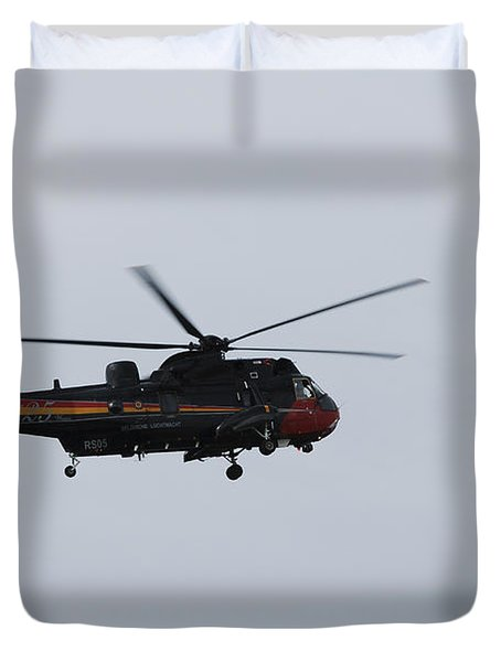 Sea King Helicopter Of The Belgian Army Duvet Cover by Luc De Jaeger