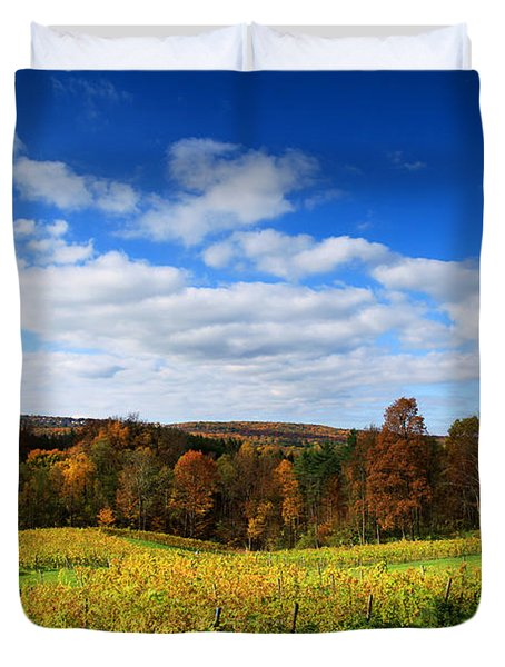 Six Miles Creek Vineyard Duvet Cover by Paul Ge