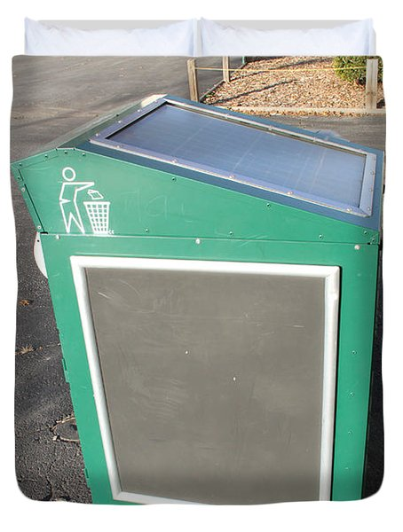 Solar Powered Trash Compactor Duvet Cover by Photo Researchers, Inc.
