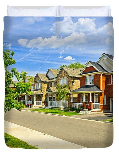 Suburban homes Duvet Cover by Elena Elisseeva