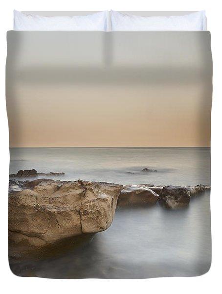 Sunset On The Mediterranean Duvet Cover by Joana Kruse