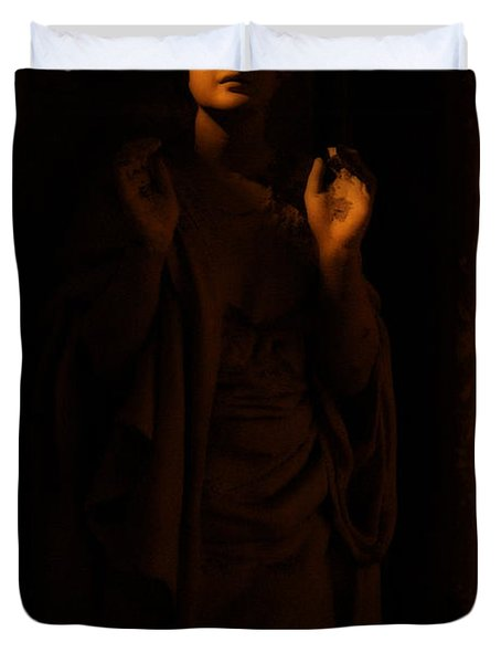 Supplication Duvet Cover by Lisa Knechtel