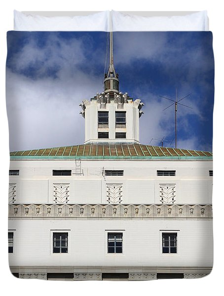 Supreme Court of California . County of Alameda . Oakland California View From Oakland Museum . 7D13 Duvet Cover by Wingsdomain Art and Photography