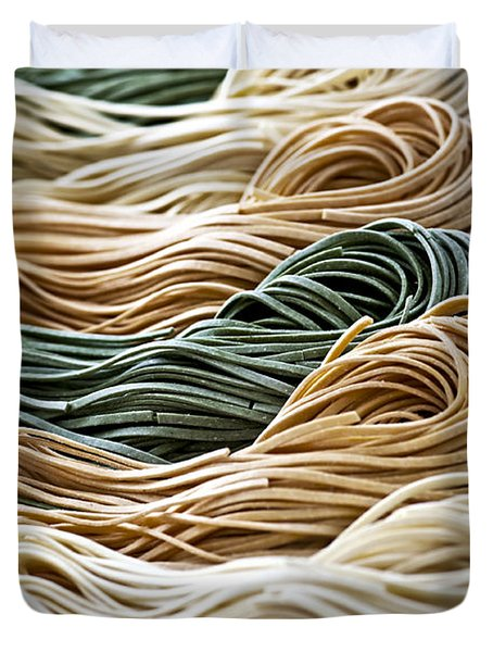 Tagliolini pasta Duvet Cover by Elena Elisseeva