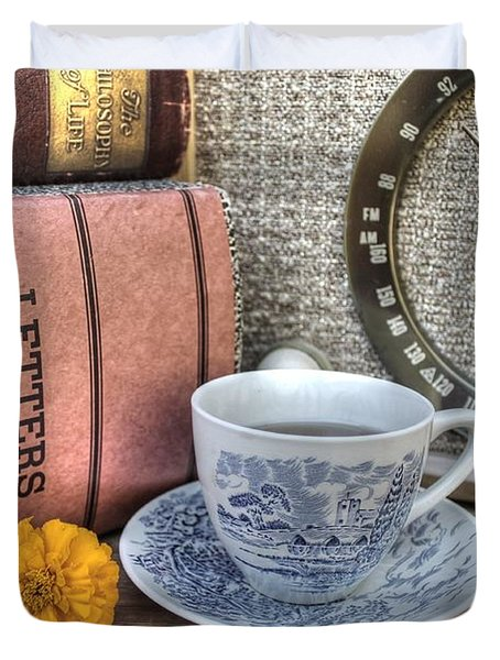 Tea Time Duvet Cover by Jane Linders