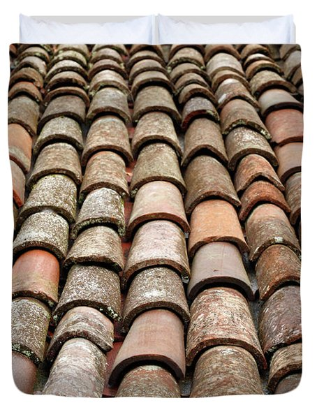 Terra Cotta Roof Tiles Duvet Cover by Gaspar Avila