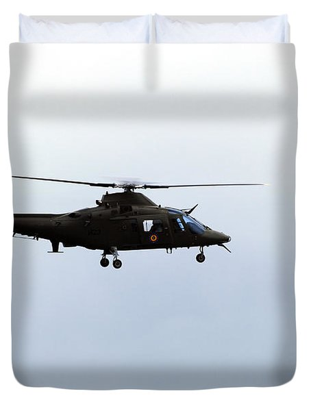 The Agusta A-109 Helicopter Duvet Cover by Luc De Jaeger