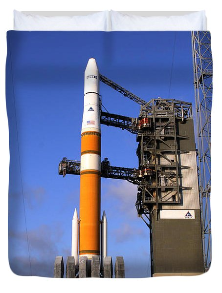 The Delta Iv Rocket That Will Launch Duvet Cover by Stocktrek Images
