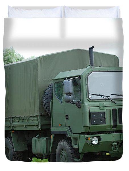 The Iveco M250 8 Ton Truck Duvet Cover by Luc De Jaeger