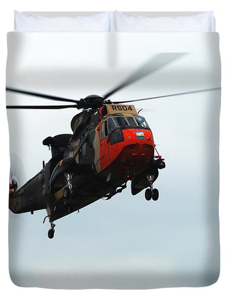 The Sea King Helicopter In Use Duvet Cover by Luc De Jaeger