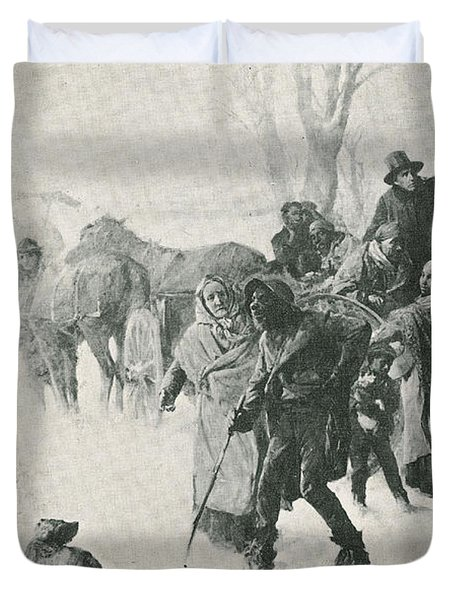 The Underground Railroad Duvet Cover by Photo Researchers