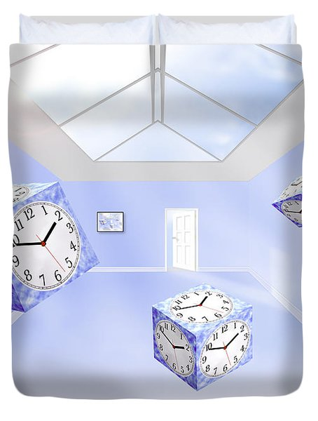 Time Cubed Duvet Cover by Mike McGlothlen