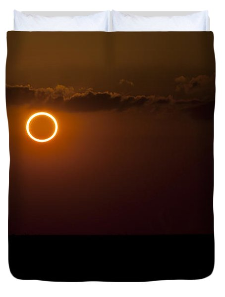 Totality During Annular Solar Eclipse Duvet Cover by Phillip Jones
