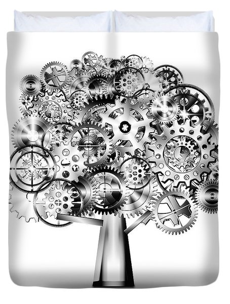 tree of industrial Duvet Cover by Setsiri Silapasuwanchai