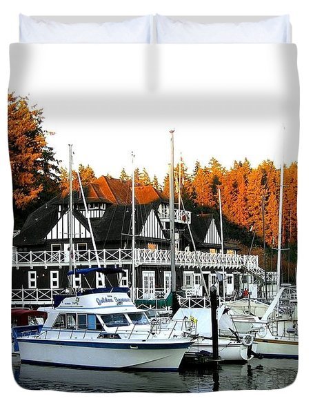 Vancouver Rowing Club Duvet Cover by Will Borden