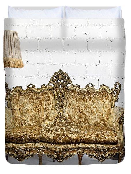Victorian Sofa In White Room Duvet Cover by Setsiri Silapasuwanchai