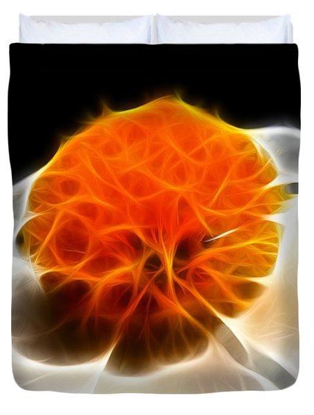 White Flower Duvet Cover by Wingsdomain Art and Photography