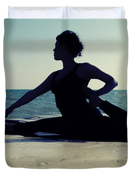 Yoga Duvet Cover by Stylianos Kleanthous