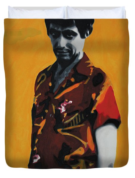 - Scarface - Duvet Cover by Luis Ludzska