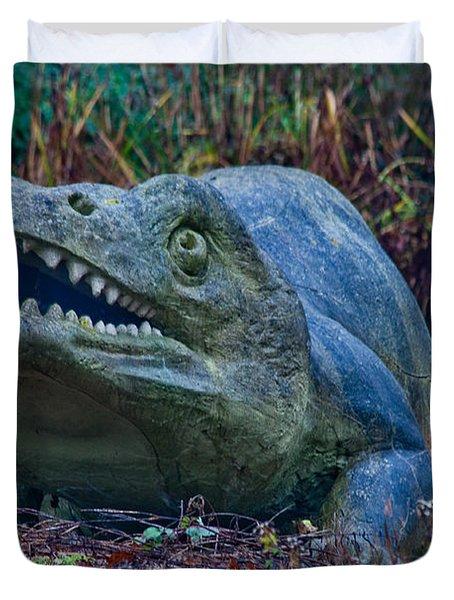Dinosaur Duvet Cover by Dawn OConnor