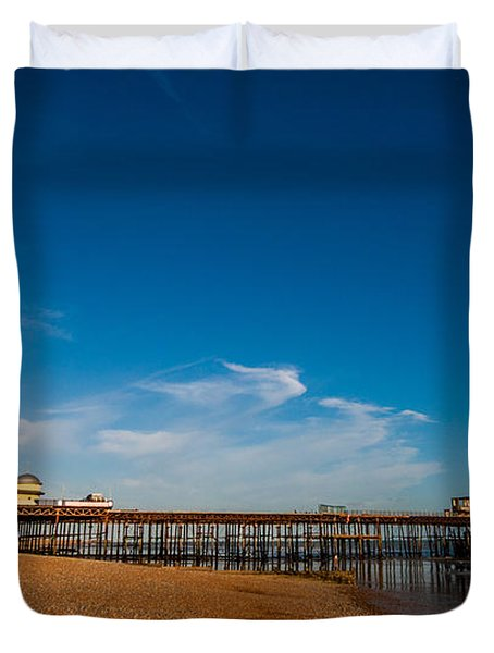 Hastings Pier Duvet Cover by Dawn OConnor