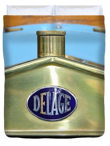 1909 Delage Badge Duvet Cover by Kaye Menner