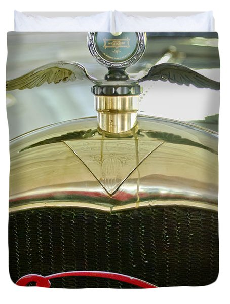 1916 Crane-simplex Model 5 Seven-passenger Touring Hood Ornament Duvet Cover by Jill Reger