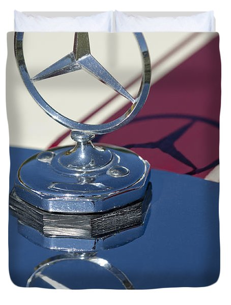 1929 Mercedes-benz Gazelle Touring Hood Ornament Duvet Cover by Jill Reger