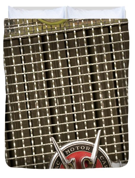 1930 Cadillac 452 Fleetwood Grille Emblem Duvet Cover by Jill Reger
