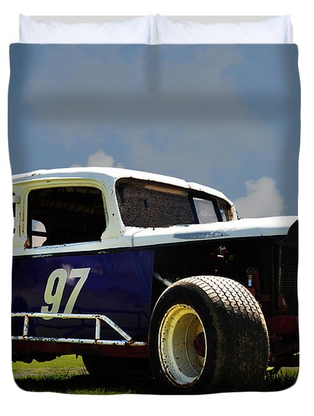 1934 Ford Stock Car Duvet Cover by Bill Cannon