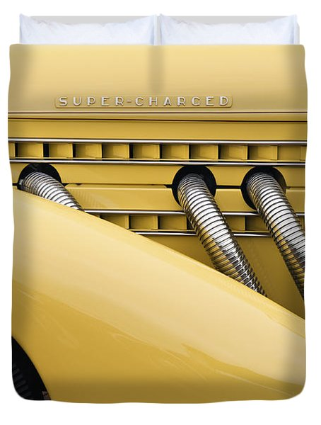1935 Auburn 851 SC Speedster Detail - D008160 Duvet Cover by Daniel Dempster