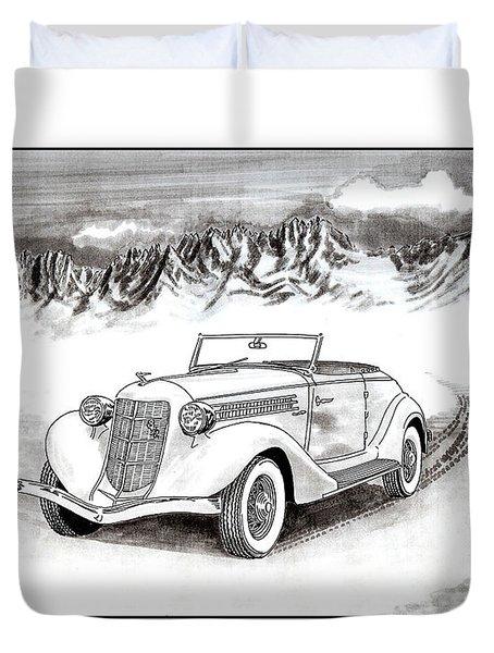 1936 Auburn 810 Duvet Cover by Jack Pumphrey