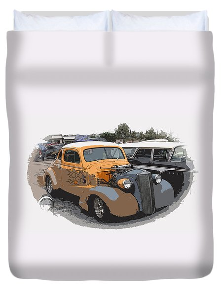 1937 Chevy Coupe Duvet Cover by Steve McKinzie