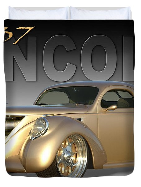 1937 Lincoln Zephyr Duvet Cover by Mike McGlothlen