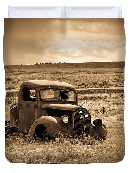 1938 Ford Pickup Duvet Cover by Steve McKinzie