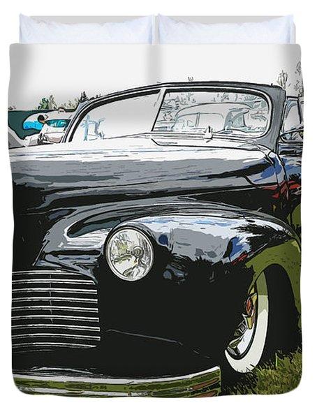 1940 Chevy Convertable Duvet Cover by Steve McKinzie