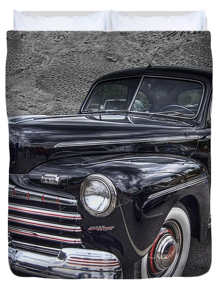 1946 Ford Duvet Cover by Debra and Dave Vanderlaan