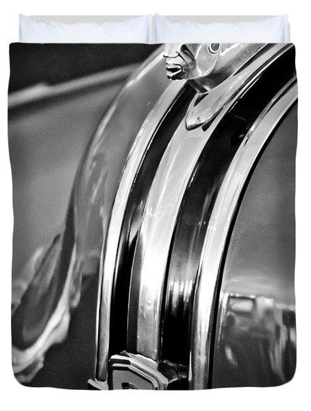 1948 Pontiac Chief Hood Ornament 4 Duvet Cover by Jill Reger