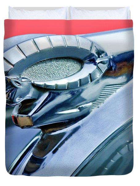 1950 Dodge Coronet Hood Ornament Duvet Cover by Jill Reger