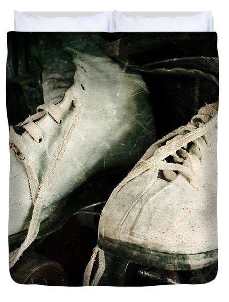 1950's Roller Skates Duvet Cover by Michelle Calkins