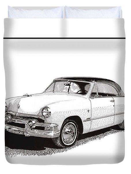 1951 Ford Victoria Hardtop Duvet Cover by Jack Pumphrey