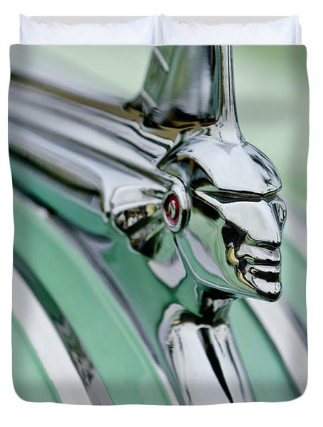1951 Pontiac Streamliner Hood Ornament 3 Duvet Cover by Jill Reger