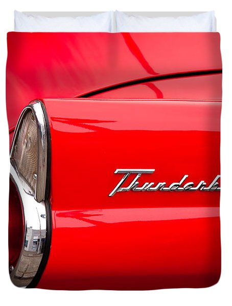 1955 Ford Thunderbird Duvet Cover by David Patterson