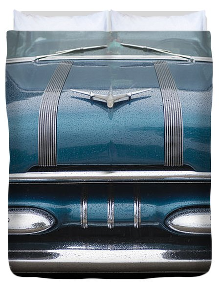 1955 Pontiac Star Chief Front Duvet Cover by Betty LaRue