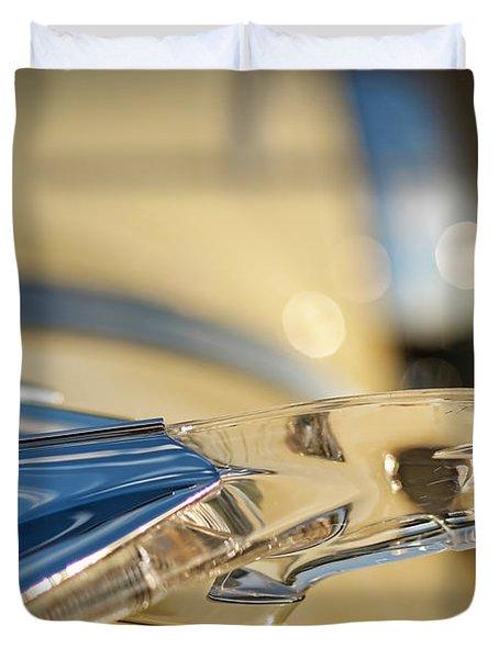 1955 Pontiac Star Chief Hood Ornament  Duvet Cover by Gordon Dean II